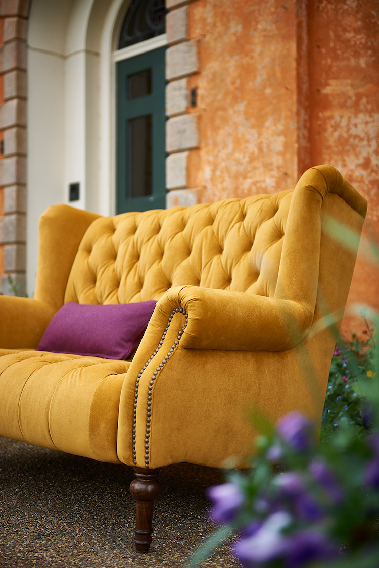 Mustard yellow couch idea 01